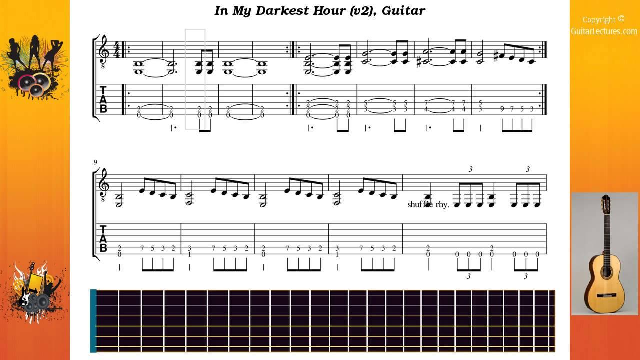 in my darkest hour tab acoustic