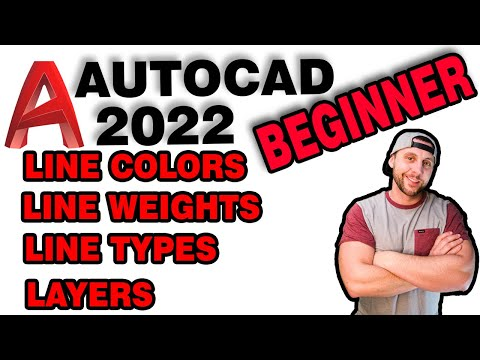 Intro. To AutoCAD 2020 - Tutorial #5 - Line Color, Line Weights, Line Types And Layers!