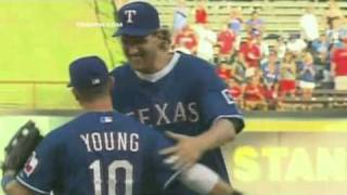Dirk Nowitzki Throwing Texas Rangers First Pitch