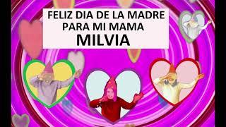 Felicitación Dia de la Madre Personalizada Nombre Milvia
