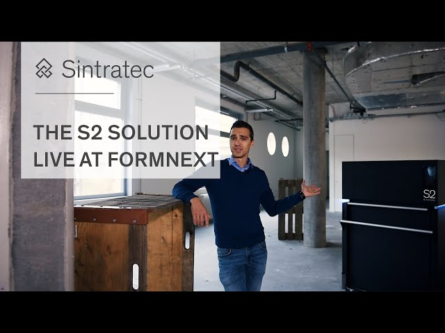 See the Sintratec S2 SLS 3D Printing Solution live in Hall 3.1, Stand G79 at Formnext 2018