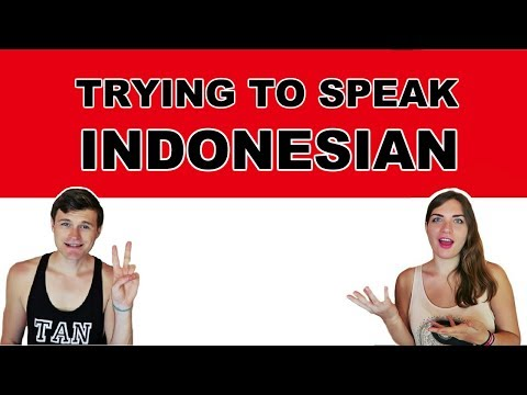 TRYING TO SPEAK INDONESIAN! Indonesian Language Challenge