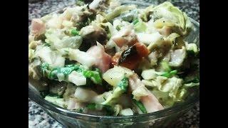 Приготовление салата с копченой курицей рецепты ШОК