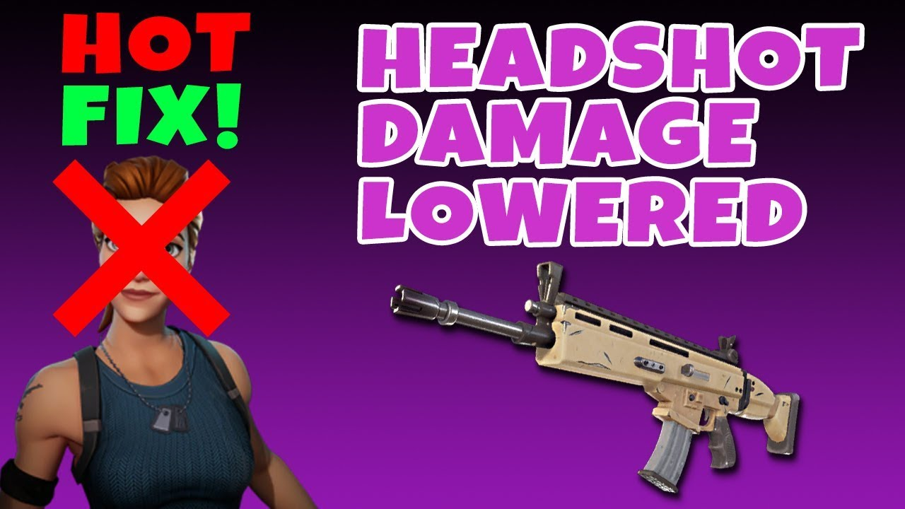fortnite new update assault rifle damage decreased and changes to headshots fortnite battle royale - what is the headshot multiplier in fortnite