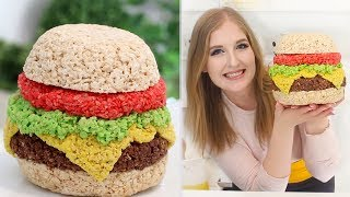 How to Make a GIANT Hamburger Rice Krispie!!! | RECIPE