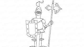 Как нарисовать средневекового рыцаря в доспехах: инструкция от EvriKak(Предлагаем нашу пошаговую инструкцию как рисовать карандашом рыцаря с копьем и щитом. Фото инструкция..., 2015-11-21T14:07:11.000Z)