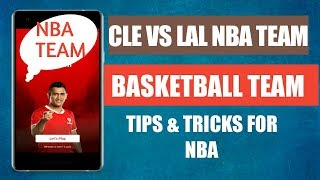 CLE vs LAL Dream 11 Team  | Cleveland Cavaliers vs Los Angeles Lakers match | CLE vs LAL NBA Team |