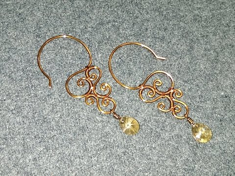 Wire Earring Vintage Style With Crystal Handmade Jewelry Ideas 174