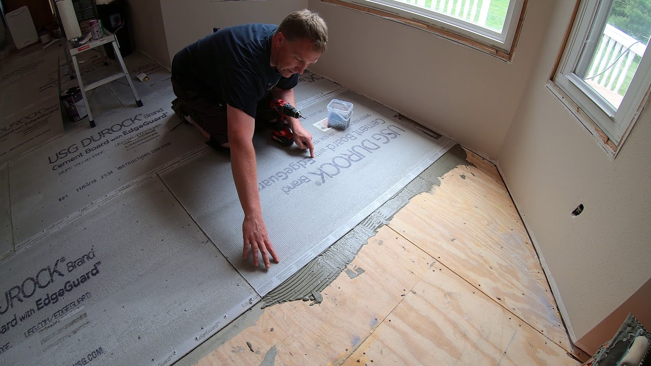 Durock Cement Board Do S And Dont, Can You Put Vinyl Flooring Over Cement Board
