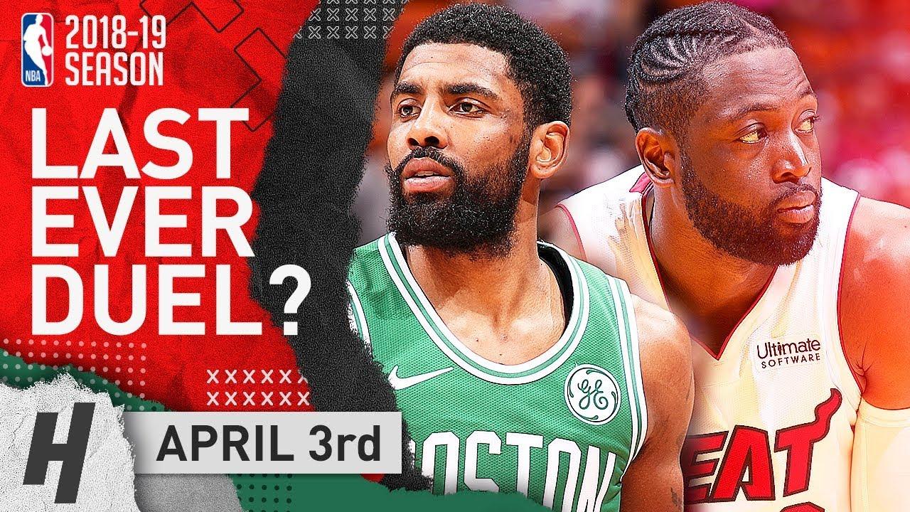 online store e6df0 a3a2b Kyrie Irving vs Dwyane Wade Duel Highlights Celtics vs Heat 2019.04.03 -  Last EVER Duel