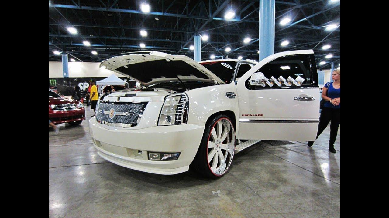 """SwiftMIA White Cadillac Escalade on 28"""" Forgiato Otto ..."""