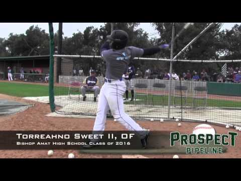 Torreahno Sweet II Prospect Video, OF, Bishop Amat High School  Class of 2016