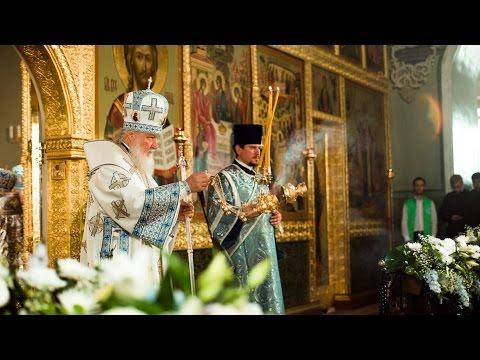 Патриаршая Божественная литургия в Благовещенском соборе Казанского кремля