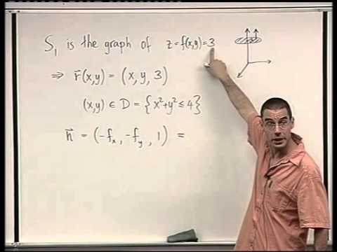 88 - Surface integrals of vector fields - example