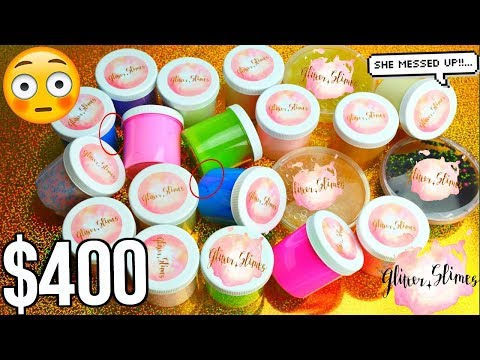$400 GLITTER SLIMES SLIME PACKAGE REVIEW! IS IT REALLY WORTH $400 !  CRAZY!!