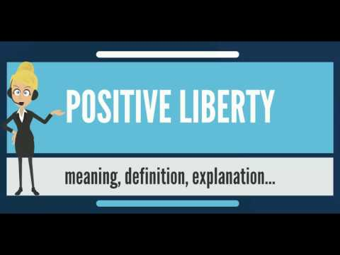 What is POSITIVE LIBERTY? What does POSITIVE LIBERTY mean? POSITIVE LIBERTY meaning & explanation