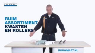 In deze video wordt het complete Bouwmaat assortiment Anza rollers ...