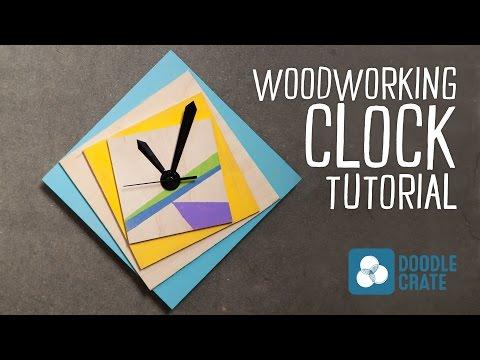 Make A Custom Geometric Wooden Clock Youtube