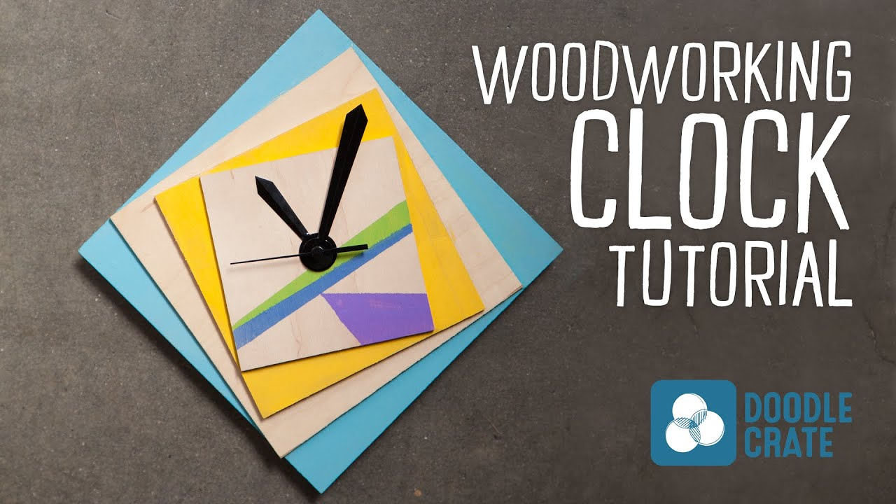 Make A Custom Geometric Wooden Clock