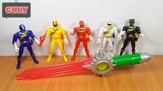 Bộ 5 anh em siêu nhân gao kiếm gọi siêu thú mới đồ chơi trẻ em power rangers gao wild force toy kids