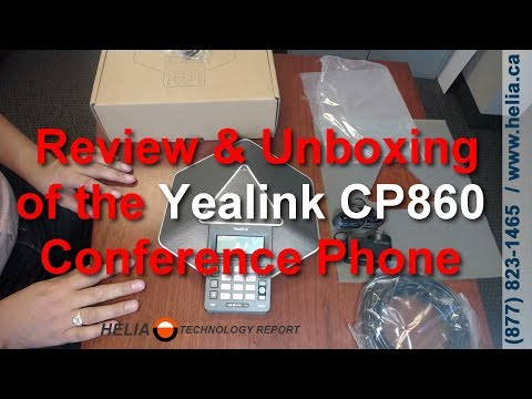 Unboxing and Review of the Yealink CP860 Conference Phone