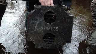 Раскопки на Железной реке N 9 Searching relics of WW2 in the River SUBS