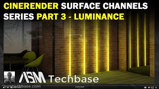 CineRender Surface Settings Series Part 3 Luminance Channel in ARCHICAD