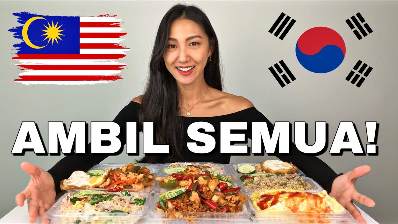 Gadis Korea 🇰🇷 Jatuh Cinta dengan Malaysia 🇲🇾 Lepas Cuba Semua Nasi Goreng!! l 말레이시아 먹방