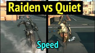 Raiden vs Quiet Speed Comparison in Metal Gear Solid V Phantom Pain MGS5