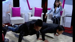 Laure VS Raymon Push Up - Himalaya Roadies Judges (LIVON-THE EVENING SHOW AT SIX)