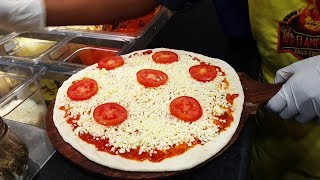 How do they make Pizzas in Restaurants ? Watch it live making Pizza - Red Flames Pizzeria