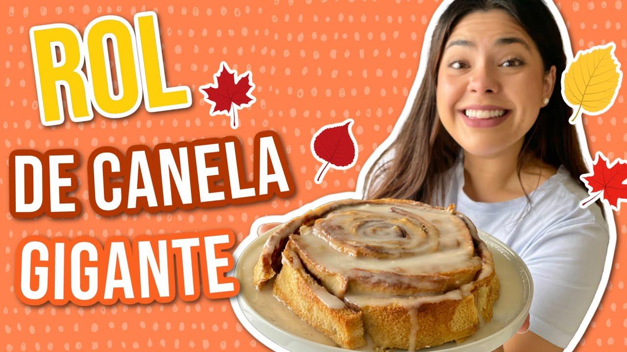 ROL DE CANELA GIGANTE CON BARRA DE PAN!! |RebeO