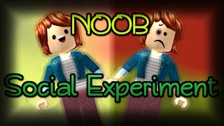 NOOB Social Experiment - Roblox Video By FUDZ