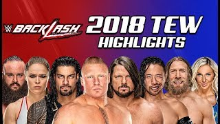 Booking WWE Backlash PPV | WWE 2018 (Total Extreme Wrestling)