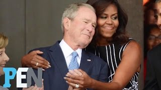 George W. Bush Dishes On His Unlikely Friendship With Michelle Obama | PEN | People