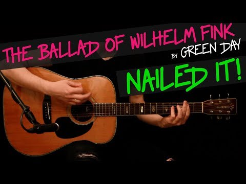 The Ballad of Wilhelm Fink - Green Day guitar cover by GV + chords