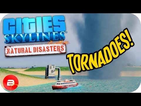 Cities Skylines ▶TORNADO ALLEY PANIC!!!◀ #2 Cities: Skylines Green Cities Natural Disasters