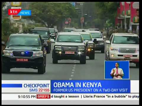 Barack Obama arrives in the country for two day visit