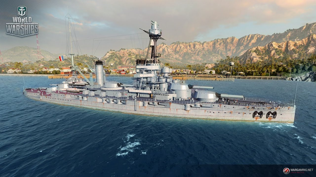 World Of Warships Bretagne Class French Tier V Battleship Youtube