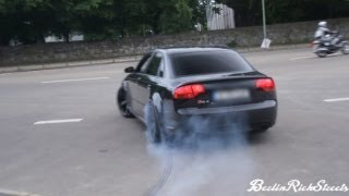 AUDI RS4 - ACCELERATION WITH SMOKING TIRES