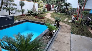 Make a pond to beautify the front garden of the house