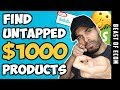 How To Find UNTAPPED $1000 Shopify Products For Dropshipping  |  NOT MANY Know Of These