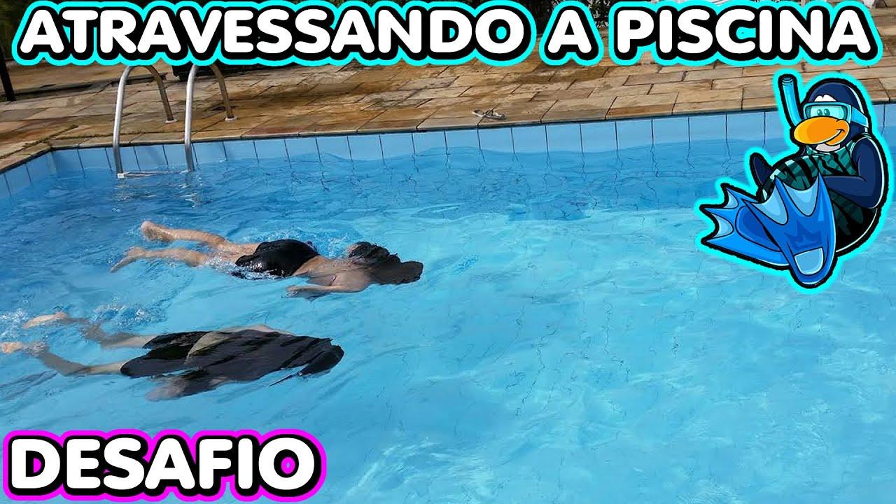Desafio Atravessando Piscina Competição Nadando (Mergulho, Pulos, Diversão) Challenge In The Pool