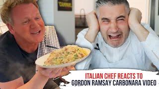 Italian Chef Reacts to GORDON RAMSAY Carbonara Video