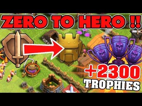 """Zero To Hero Bronze To Titan!"" +2300 Trophies! | Clash Of Clans Part 3!"