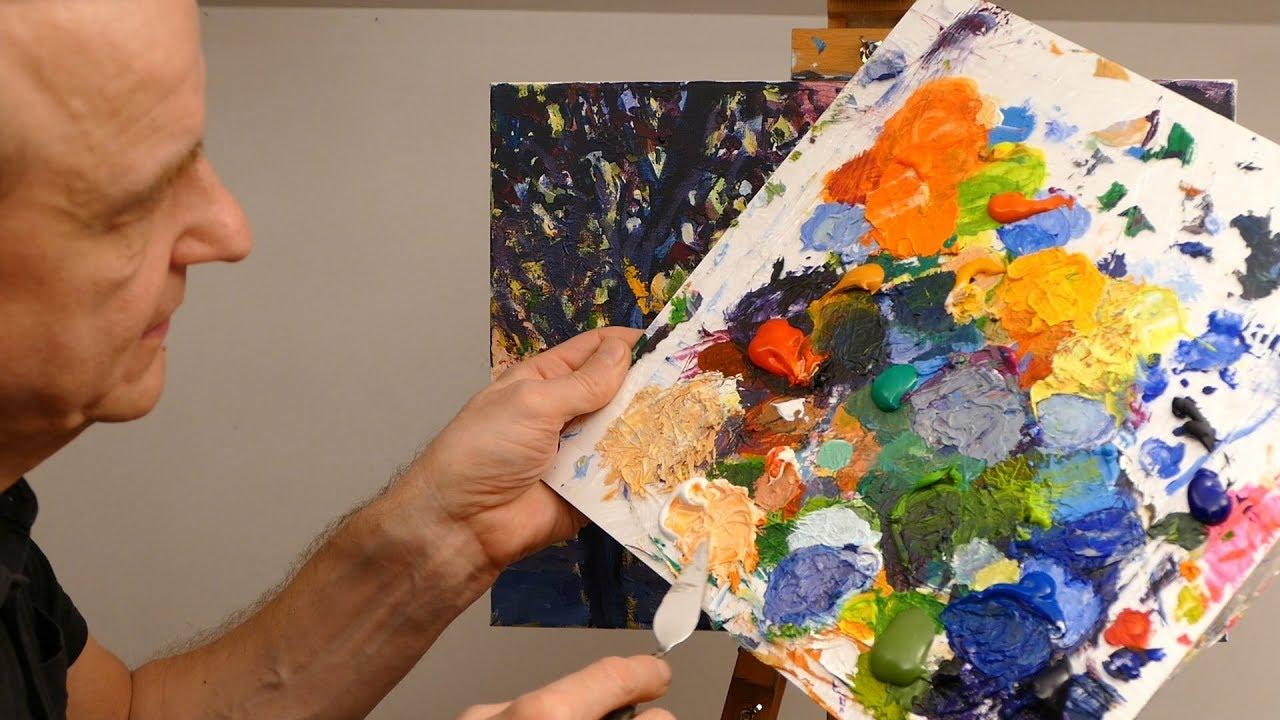 Jak Namalować Obraz Farbami Akrylowymi Pejzaż Abstrakcyjny Cz 6