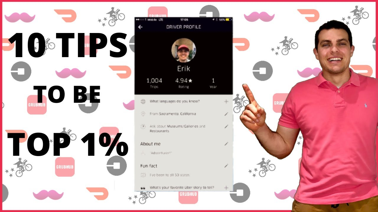 10 tips that helped me become a top 1% Uber Driver in California in 2019