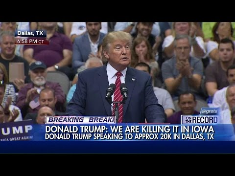 WATCH: Donald Trump Speaks to a Crowd of Thousands in Dallas