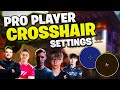 Valorant PRO PLAYER Crosshair Settings - Hiko, Brax, Skadoodle & MORE! (Valorant Crosshairs Guide)