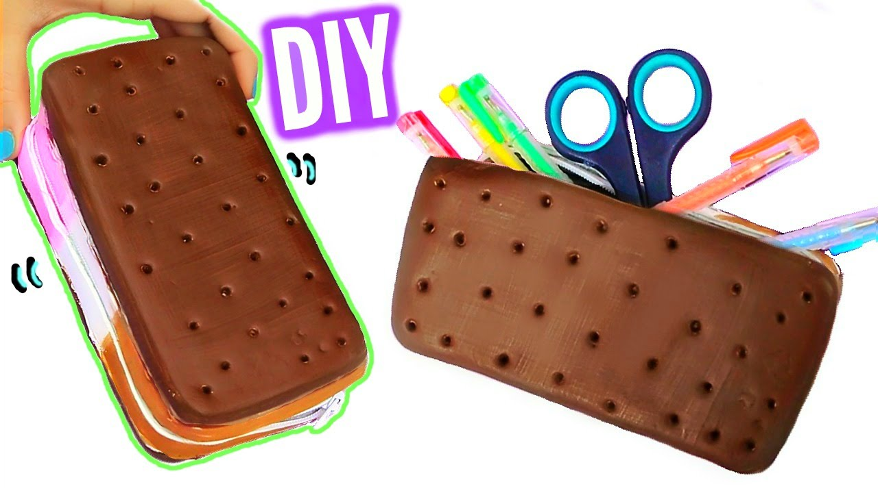 DIY Ice Cream Sandwich Pencil Case! Squishy Pencil Box! - YouTube